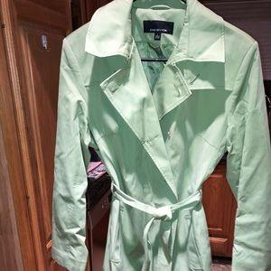 NWT Jones of ny Lime green trench coat